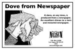 Dove from Newspaper