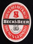 Beck's Beer - Extra Label